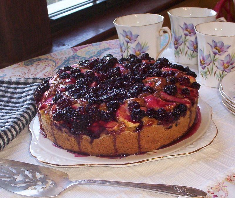 Blackberry apple cake best