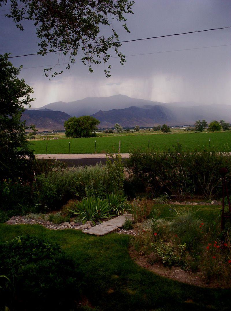 Rain on mountains