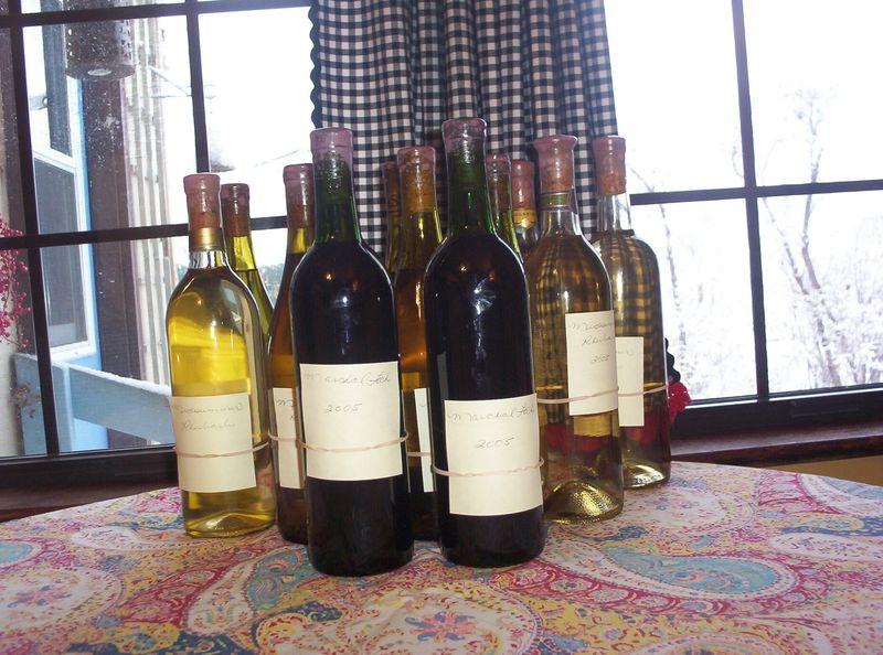 Holiday bottled wine