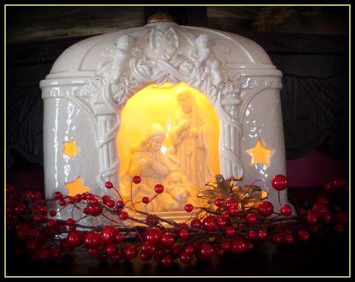 Mantle victorian nativity