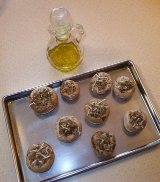 Stuffed mushrooms are bake ready