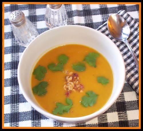 Pumpkin soup framed