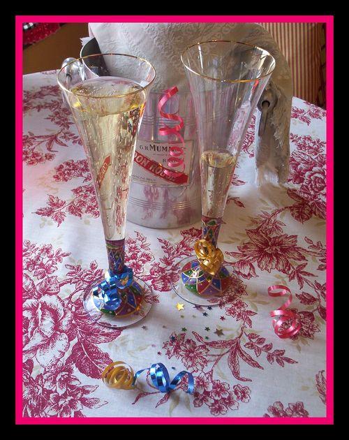 Champagne framed