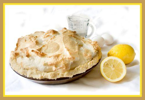 Lemon pie framed