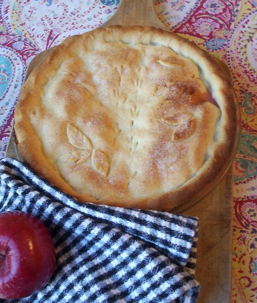 Apple raspberry pie