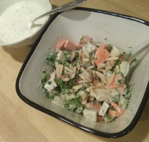 Parsley Sunchoke Carrot Salad w Creamy Tarragon Dressing
