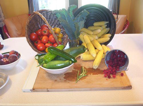 Kitchen harvest display