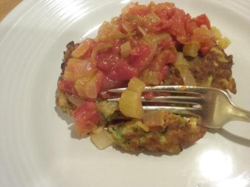 Zucchini pancake