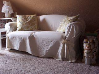 Sofa slip cover before