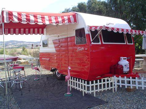 Rv vintage red trailer