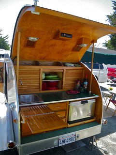Rv tear drop kitchen