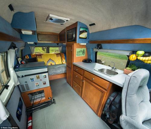 Van life inside 4