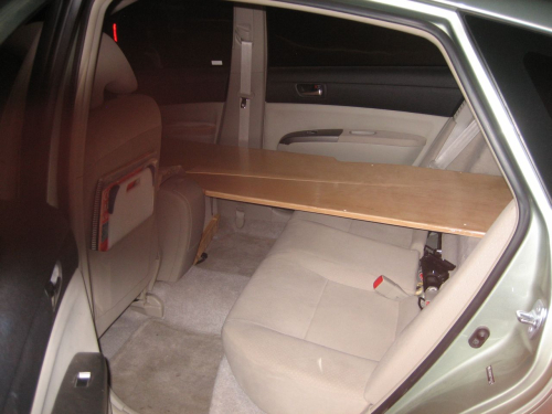 Car living prius bed
